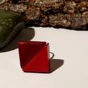 Kerámia gyűrű, Ékszer, óra, Gyűrű, Kerámia, A gyűrű nikkel mentes ezüst színű és a mérete állítható. Mérete 2,3 cm, Meska