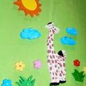 Zsiráfos gyerekszoba dekoráció, Dekoráció, Otthon, lakberendezés, Falmatrica, Falikép, Festészet,  Ez a kedves kis dekoráció a zsiráf szerelmeseinek készült. Polisztirolból készítettem a figurát.  ..., Meska