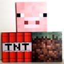 Minecraft creeper és skin fali dekoráció, Baba-mama-gyerek, Dekoráció, Gyerekszoba, Falmatrica, Decoupage, szalvétatechnika, Minecraft figurák kicsiknek és nagyoknak, fiúknak és lányoknak! A gyerekek és felnőttek által is ke..., Meska