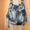 Tamara 1 nagy női táska, Táska, Ruha, divat, cipő, Válltáska, oldaltáska, Varrás, Saját tervezésű táska melyet jó minőségű anyagokból, aprólékos kidolgozással varrtam meg. Ez egy ol..., Meska