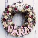 """Paris! Je t'aime - Kopogtató az örök szerelem városából, Dekoráció, Otthon, lakberendezés, Esküvő, Nászajándék, Virágkötés, Paris, je t'aime! - A szerelem örök  """"Lehet, hogy ez is csak varázslat volt, egy a sok közül, hogy ..., Meska"""
