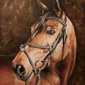 Ló portré, Képzőművészet, Otthon, lakberendezés, Festmény, Olajfestmény, , Meska