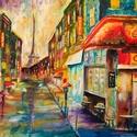 Párizs színei, Képzőművészet, Otthon, lakberendezés, Festmény, Olajfestmény, , Meska