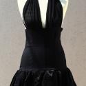 """Fekete nyakbakötős ruha, Ruha, divat, cipő, Női ruha, Ruha, Estélyi ruha, Varrás, \""""Kis fekete\"""" ruha. Nappali illetve alkalmi viselet is lehet. Az alja hagyma szoknya fazonú, kicsi..., Meska"""