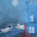 Tűz ura, Képzőművészet , Illusztráció, Festmény, Akril, Festészet, Ez az illusztráció a 2014 november 18-án megjelent Mesék a Teljességhez című mesekönyv egyik darabj..., Meska