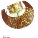 Arany,barna bőr nyaklánc és karkötő, Ékszer, óra, Nyaklánc, Karkötő, Ékszerkészítés, Arany mintás,csónak alakú barna bőr nyaklánc és karkötő. A nyaklánc lánc része 28cm..A csónak alak ..., Meska