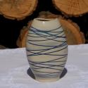 Váza, Otthon, lakberendezés, Kaspó, virágtartó, váza, korsó, cserép, Kerámia, Tömörre égetett agyagból készült 16,5 cm magas váza., Meska