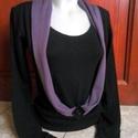 Különleges női pulcsi, Ruha, divat, cipő, Női ruha, Blúz, Felsőrész, póló, Varrás, Kötött anyagból készítettem ezt az egyedi felsőt. Egyedi szabásvonalú,nyakrésze különleges,amit egy..., Meska