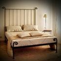 140x200 Kovácsolt ágykeret., Bútor, Ágy, Kovácsoltvas,  Miért is jó a kovácsoltvas ágy?  1. A vas mint tudjuk szinte örök dolog .Nem nyekereg, nem mozog, ..., Meska