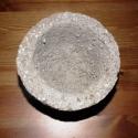 kis kerek könnyűbeton virágtartó, Dekoráció, Otthon, lakberendezés, Kaspó, virágtartó, váza, korsó, cserép, Mindenmás, A kerek virágtartó könnyűbetonból (tőzegbeton) készült cement, tőzeg, perlit és víz hozzáadásával. ..., Meska