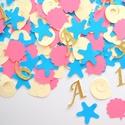 Konfetti parti dekoráció születésnapra keresztelőre babazsúrra scrapbook asztalidísz kagyló csillag rózsaszín, Baba-mama-gyerek, Dekoráció, Naptár, képeslap, album, Papírművészet, A kis hableány perszonalizált konfetti/asztalidísz   Díszítsd föl az ünnepi asztalt ezzel a bájos é..., Meska