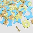 Konfetti parti dekoráció születésnapra keresztelő babazsúr scrapbook asztalidísz maci lepke kék rózsaszín, Baba-mama-gyerek, Dekoráció, Naptár, képeslap, album, Papírművészet, Micimackó perszonalizált konfetti/asztalidísz  Díszítsd föl az ünnepi asztalt ezzel a bájos és hang..., Meska