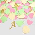 Konfetti parti dekoráció születésnapra keresztelő babazsúr teadélután scrapbook asztalidísz rózsaszín zöld, Baba-mama-gyerek, Dekoráció, Naptár, képeslap, album, Papírművészet, Alice Csodaországban perszonalizált konfetti/asztalidísz   Díszítsd föl az ünnepi asztalt ezzel a b..., Meska