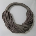 SPIRAL -khaki/barna- textilékszer szett, Ékszer, óra, Ékszerszett, Ékszerkészítés, Újrahasznosított alapanyagból készült termékek, A szett újrahasznosítható, rugalmas textilből készült termék khaki-barna színekben. A bebújós nyakb..., Meska