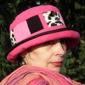Téli kalap Rózsaszín Párducoknak, Baba-mama-gyerek, Ruha, divat, cipő, Kendő, sál, sapka, kesztyű, Sapka, , Meska