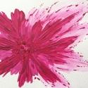 Virág-árnyjáték festmény, Képzőművészet, Festmény, Akril, Napi festmény, kép, Festészet, 11x15 cm-es akril festmény.  Ecsettel és festőkéssel készült. Eredeti, egyedi festmény. Másolat, ny..., Meska
