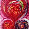 """""""Összeolvadás""""- festmény, Képzőművészet, Dekoráció, Otthon, lakberendezés, Festmény, Festészet, 27x34  cm-es akril festmény  Eredeti, egyedi festmény, adott pillanat érzelmeit fejezi ki.  Másolat..., Meska"""
