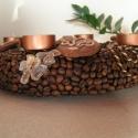 Kávészemes adventi koszorú, Dekoráció, Ünnepi dekoráció, Virágkötés,  Reggeli kávézásom alkalmával mikor megéreztem a kávé illatát akkor jutott az eszembe,hogy mennyire..., Meska