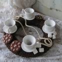 Kávészemes adventi koszorú csészével, Dekoráció, Ünnepi dekoráció, Virágkötés, Reggeli kávézásom alkalmával mikor megéreztem a kávé illatát akkor jutott az eszembe,hogy mennyire ..., Meska