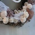 Natúr vessző koszorú ., Dekoráció, Otthon, lakberendezés, Ünnepi dekoráció, Virágkötés, Klasszikus,természetes és egyszerű!  El készítettem egy kisebb változatot is a natúr koszorúból.   2..., Meska