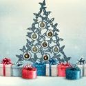 Lepkés karácsonyfa, Karácsonyi, adventi apróságok, Otthon, lakberendezés, Karácsonyfadísz, Karácsonyi dekoráció, Famegmunkálás,  Az év legmeghittebb ünnepén ne csak lelkünket töltsük meg a karácsony szellemével, hanem otthonunk..., Meska