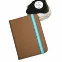 Color Up! - Mokka Kindle Tok, Táska, Pénztárca, tok, tárca, Bőrművesség, Mindenmás, -----Megérkezett az új Kindle tok kollekcióm!-----  Valódi világosbarna bőrből, kék színű textil bél..., Meska