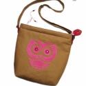 ' Cseresznyevirág ' Táska, Táska, Válltáska, oldaltáska, Varrás, Mindenmás, Te is rajongsz a baglyos holmikért? Akkor Neked készült ez az édes kis madárkás táska!   ----------..., Meska