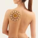 Napraforgó tetoválás minta, Dekoráció, Képzőművészet , Szépségápolás, Falmatrica, Mindenmás, Fotó, grafika, rajz, illusztráció, Saját napraforgó ihlette tetoválás mintám. Szükség esetén más színben is elkészítem.  Tetoválás min..., Meska