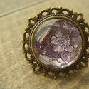 Virágmintás bronz gyűrű, Ruha, divat, cipő, Ékszer, óra, Gyűrű, Ékszerkészítés, Törd meg a mindennapok szürkeségét, ezzel a romantikus hangulatot árasztó antikolt bronz gyűrűvel! ..., Meska