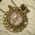 Vintage róka nyaklánc üveglencsével, Ékszer, óra, Nyaklánc, Elegáns atikolt bronz medál alapba a nagy népszerűségnek örvendő rókás mintát helyeztem és üveglencs..., Meska