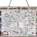 Antik Magyarország térkép, Otthon, lakberendezés, Üvegművészet, Antik stílusú üvegkép. A festékréteget beleégetem az üvegbe, ez tartós, időtálló nyomatot eredménye..., Meska
