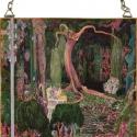 The New Generation, Otthon, lakberendezés, Üvegművészet, Alkotó: Jan Toorop Szecessziós stílusú üvegkép. A festékréteget beleégetem az üvegbe, ez tartós, id..., Meska