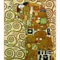 Gustav Klimt - Az élet fája, Otthon, lakberendezés, Üvegművészet, Alkotó: Gustav Klimt Szecessziós stílusú üvegkép. A festékréteget beleégetem az üvegbe, ez tartós, ..., Meska