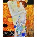 Gustav Klimt - Anya gyermekével, Otthon, lakberendezés, Üvegművészet, Alkotó: Gustav Klimt Szecessziós stílusú üvegkép. A festékréteget beleégetem az üvegbe, ez tartós, ..., Meska