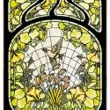 Díszüveg, Otthon, lakberendezés, Üvegművészet, Antik stílusú üvegkép. A festékréteget beleégetem az üvegbe, ez tartós, időtálló nyomatot eredménye..., Meska