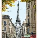 Paris, Otthon, lakberendezés, Üvegművészet, Modern stílusú üvegkép. A festékréteget beleégetem az üvegbe, ez tartós, időtálló nyomatot eredménye..., Meska