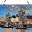 London - Tower Bridge, Otthon, lakberendezés, Üvegművészet, Modern stílusú üvegkép. A festékréteget beleégetem az üvegbe, ez tartós, időtálló nyomatot eredmény..., Meska