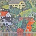 Kerámia mozaikkép (Gustav Klimt) 60x60 cm, Dekoráció, Képzőművészet , Otthon, lakberendezés, Kép, Kerámia, Mozaik, Kerámia mozaikkép, 6db, 20x30 cm-es mozaikból összeillesztve. Tartós, égetett kivitel, nem sérüléke..., Meska