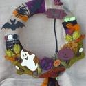 Bohókás őszi Halloween ajtó kopogtató , Dekoráció, Dísz, Virágkötés, Bohókás őszi Halloween ajtó kopogtató, mely garantáltan mosolyt csal az arcodra. A koszorút a klasz..., Meska