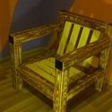 Fotel fogazott fenyőgerendából (egyedülálló design), Bútor, Szék, fotel, Famegmunkálás, Fotel fogazott fenyőgerendából, koptatott barna színben, lakkozva.  Különlegessége, hogy egyedüláll..., Meska
