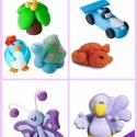 Gyurmafigurás ötletfüzet!, Játék, Baba-mama-gyerek, Készségfejlesztő játék, Játékfigura, Gyurma, Gyurmafigurás ötletfüzet kicsiknek és nagyoknak!  88.oldal 164 gyurmafigura!   Itt a nyári szünet, ..., Meska