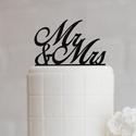 Esküvői tortadísz (Mr és Mrs, Monogrammok, Nevek) 12 cm széles, Esküvő, Esküvői dekoráció, , Meska