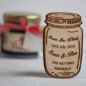 Emlékezz a napra (Save The Date) esküvői ajándék hűtőmágnes, Esküvő, Meghívó, ültetőkártya, köszönőajándék, , Meska