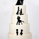 Esküvői tortadísz fiatal szerelemes párokkal, Esküvő, Esküvői dekoráció, , Meska