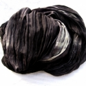kohinoor selyemsál STÓLA méretben , Ruha, divat, cipő, Női ruha, Selyemfestés, A fekete-grafitszürke alapot fehér villanások oldják - egy stóla azoknak, akik szeretik a feketét, d..., Meska