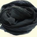 feketés batikolt  géz-sál jó nagy nincs!!!, Ruha, divat, cipő, Női ruha, Festett tárgyak, Egy olyan nagyon mély,sötét szürke,néhol fekete sál; férfiaknak is ajánlom.. Mérete: kb 90x200cm   P..., Meska
