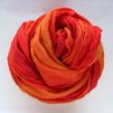 """""""naplemente2"""" selyemsál STÓLA méretben - nemcsak ősszel!:--)), Ruha, divat, cipő, Női ruha, Selyemfestés, A tűz színei - izzó narancsos-pirosas színkavalkád - tüzes menyecskéknek.. Az anyag ugyanaz, tisztas..., Meska"""