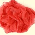 korall nagy  géz-sál, Ruha, divat, cipő, Női ruha, Festett tárgyak, Kellemes, világosabb korall-piros. Mérete: kb 90x170cm, be van szegve   Pihe-puha gézkendő, nagyon ..., Meska
