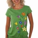 Manolonda - egyedi kézzel festett női póló, Ruha, divat, cipő, Női ruha, Felsőrész, póló, Festett tárgyak, Manolonda - egyedi kézzel festett női póló.  A póló jó minőségű alapanyagból készült, ezekre kerüln..., Meska