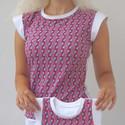 ELLA - szivek, Ruha, divat, cipő, Női ruha, Felsőrész, póló, Varrás, Német designer által tervezett női poló.  Anyaga 95% pamut, 5% elasztán. Javasolt 30 C -ig fehérítő..., Meska